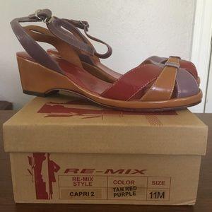 61e7a0f93d Re-mix Vintage Shoes - Re-mix Vintage Capri Shoes in Red Tan